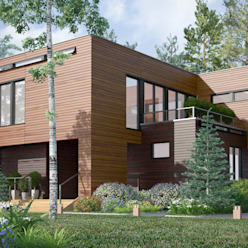 Дом на Николиной горе Studio of Architecture and Design 'St.art' Дома в стиле минимализм