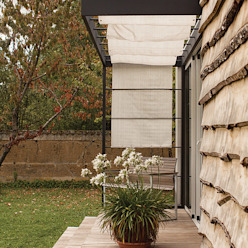 Studio jardin Balcon, Veranda & Terrasse modernes par .oboo-outdoor Moderne