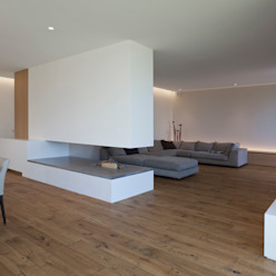 Wohnhaus P. - Oberösterreich Moderne Wohnzimmer von Frohring Ablinger Architekten Modern