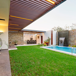Casa Manantiales Enrique Cabrera Arquitecto Balcones y terrazas modernos