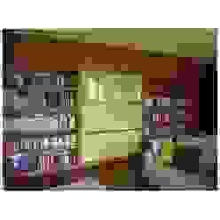 Libreria a muro con porta scorrevole integrata Soggiorno moderno di CORDEL s.r.l. Moderno