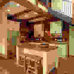 Lucky 4 Ranch Cocinas rústicas de Uptic Studios Rústico