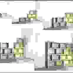 Aumentamos según nuestra necesidad TIMBER-BOX Estudios y despachos de estilo moderno