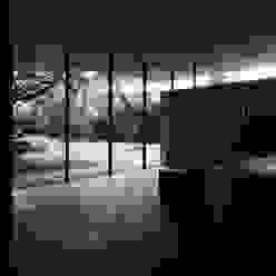 Blick aus dem Wohnbereich Moderne Wohnzimmer von dürschinger architekten Modern