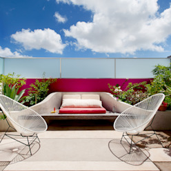 Taller Estilo Arquitectura Modern balcony, veranda & terrace