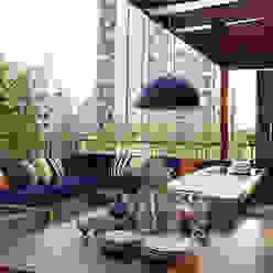 Cobertura - Pinheiros: Terraços  por MANDRIL ARQUITETURA E INTERIORES,Moderno