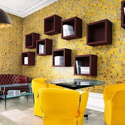 Cafe in der Trendfarbe Gelb Moderne Gastronomie von trend group Modern