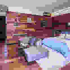 Casa Basaltica grupoarquitectura Dormitorios minimalistas