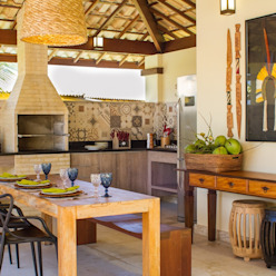 Casa Imbassaí Jamile Lima Arquitetura Varandas, alpendres e terraços tropicais
