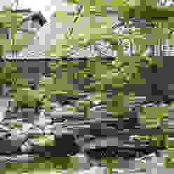 池とせせらぎのある暮らし へーベルハウス雑木の庭の作り方 T's Garden Square Co.,Ltd. アジア風商業空間