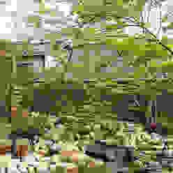 池とせせらぎのある暮らし へーベルハウス雑木の庭の作り方 T's Garden Square Co.,Ltd. アジア風 庭