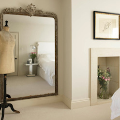 Bedroom, Richmond Place, Bath Eklektyczna sypialnia od Concept Interior Design & Decoration Ltd Eklektyczny