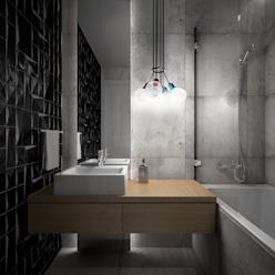 Wiktoria Ginter - interiorismo Ванна кімната