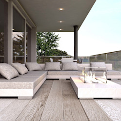 Moderner Balkon, Veranda & Terrasse von ARTREADY Modern