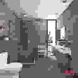Vista Interior -Cuarto de baño Estudio Meraki Baños modernos