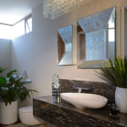 homify Modern bathroom Granite Grey