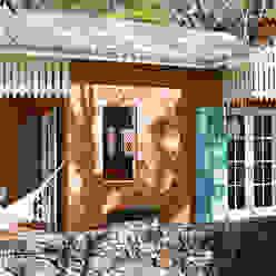 Fachada Casas campestres por Célia Orlandi por Ato em Arte Campestre Tijolo
