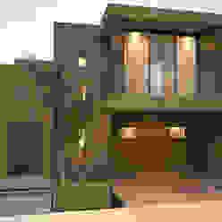 Fachada principal / Sur homify Casas modernas