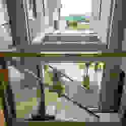 Casa MAS: Pasillos y recibidores de estilo  por Saez Sanchez. Arquitectos,