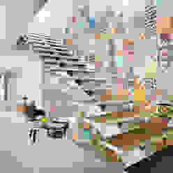 Escalera - B+H45 HPONCE ARQUITECTOS Pasillos, vestíbulos y escaleras de estilo moderno