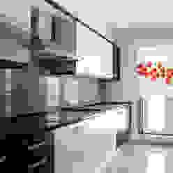 Bonita Casa Cozinhas minimalistas Sintético Vermelho