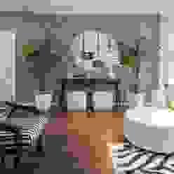 Sala Tropical Chic od Movelvivo Interiores Egzotyczny