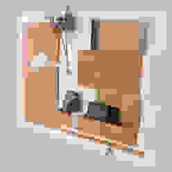 Organizer - 63x45 cm, drewniany - biały plus od Silva Design Nowoczesny Sklejka