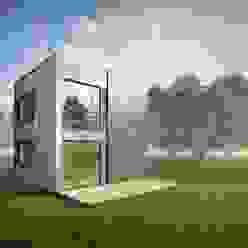 Cube NEWOOD - Современные деревянные дома Дома в эклектичном стиле Дерево Многоцветный