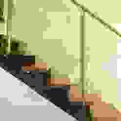 Ramirez Arquitectura Corridor, hallway & stairsStairs Wood Brown