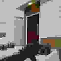 RJH Casas ecléticas por Angelica Pecego Arquitetura Eclético