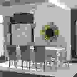 Propuesta 3D - Diseño de Comedor Moderno. Gabriela Afonso Comedores de estilo moderno Madera Marrón