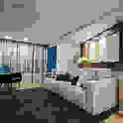 Salas multimedia modernas de Estúdio HL - Arquitetura e Interiores Moderno