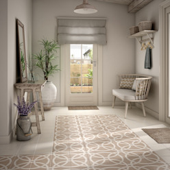 Country style corridor, hallway& stairs by Equipe Ceramicas Country
