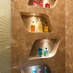 Bridal Room, Mumbai. Eclectic style bathroom by SDA designs Eclectic