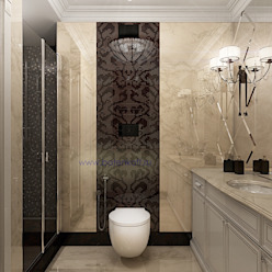homify Classic style bathroom Marble Beige
