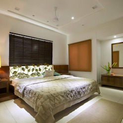 Sandeep Gandhi Bungalow Modern style bedroom by P & D Associates Modern