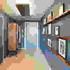 Penthouse, Zurich Studio Frey Corredores, halls e escadas modernos
