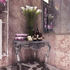 Your royal design Classic style bathroom Brown
