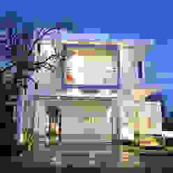 Casa Lirio arketipo-taller de arquitectura Casas modernas Blanco