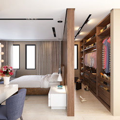 İç mekan tasarım ve Görselleştirme Modern Yatak Odası fatih beserek Modern