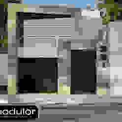 Fachada Pina 351 Casas modernas de Modulor Arquitectura Moderno Pizarra