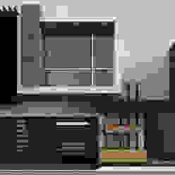 Fachada JR220 Casas modernas de Modulor Arquitectura Moderno Pizarra