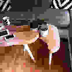 Coffee Table Moon BIG / Stoliki kawowe Moon small od D2 Studio Skandynawski Drewno O efekcie drewna