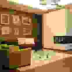 Nowoczesny salon od Giuseppe Rappa & Angelo M. Castiglione Nowoczesny Drewno O efekcie drewna