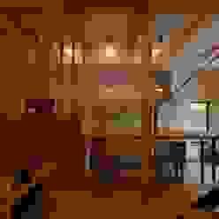 ドマのあるキッチン・ダイニング: 株式会社TERRAデザインが手掛けたリビングです。,