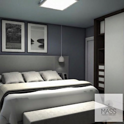 Dormitorio Dormitorios modernos: Ideas, imágenes y decoración de ESTUDIO MASS Moderno