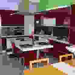Cozinha em termo-laminado brilhante Ansidecor CozinhaArmários e estantes Derivados de madeira Vermelho
