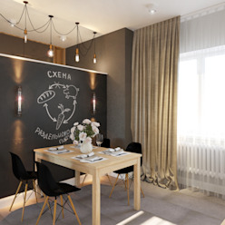 Студия авторского дизайна ASHE Home Cocinas de estilo ecléctico