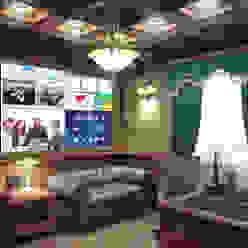 Умный дом - рабочий кабинет руководителя, видеостена. Первая Мультимедийная компания Рабочий кабинет в классическом стиле