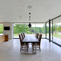 Little England Farm - House Sala da pranzo moderna di BBM Sustainable Design Limited Moderno